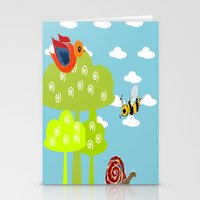 bee Stationery Cards featuring bee by Susycosta