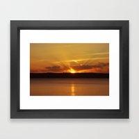 Cornish Sunset Framed Art Print