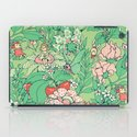 Garden party - sage tea version iPad Case