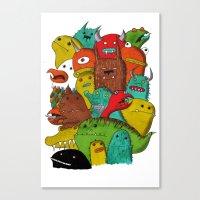 Mile-End Monsters Canvas Print