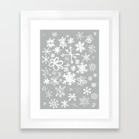Snowflake Concrete Framed Art Print