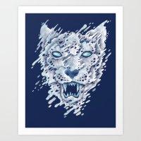 SNOWleopard Art Print