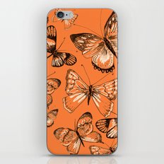 Coral butterflies iPhone & iPod Skin
