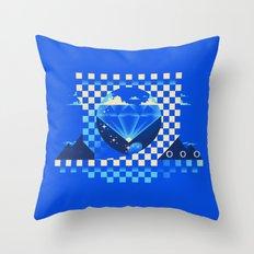 Chaos Emerald Throw Pillow