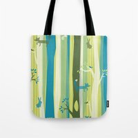 Woodland Stripe Tote Bag