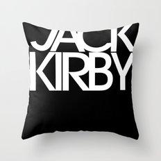 Classic : Jack Kirby Black  Throw Pillow