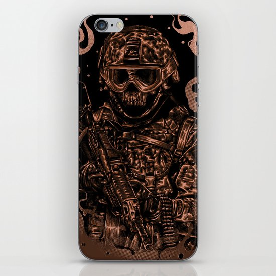 Military skull iPhone & iPod Skin