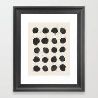 Two / Cream Framed Art Print