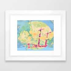 Sail in the Set Framed Art Print