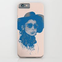 Woman in Hat and Sunglasses iPhone 6 Slim Case