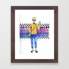 Hipster Death Framed Art Print