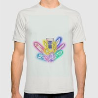 Party Crystals Mens Fitted Tee Silver SMALL