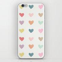 Candy Hearts iPhone & iPod Skin