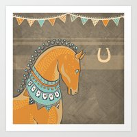 Horse Head - Chocolate Art Print