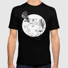 Fantails #2 Mens Fitted Tee Black SMALL
