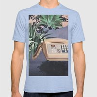 Late Nite Phone Talks Mens Fitted Tee Tri-Blue SMALL