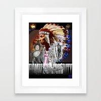 HOMELAND SECURITY Framed Art Print