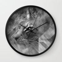 Broken Lynx Wall Clock