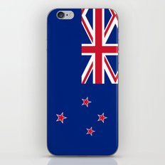 National flag of New Zealand - Authentic version to scale and color iPhone & iPod Skin