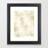 Crosshatch Gold Framed Art Print