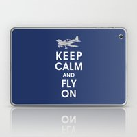 Keep Calm and Fly On Laptop & iPad Skin
