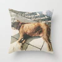 Sleeping Dogs Throw Pillow