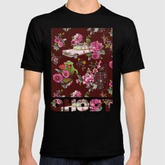 Ecto Floral Mens Fitted Tee Black SMALL