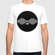 Arctic Monkeys Logo AM Mens Fitted Tee White SMALL