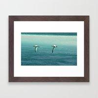 Ocean patrol Framed Art Print