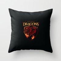 Valyria Dragons Throw Pillow