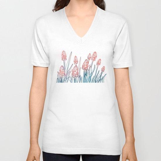 Hyacinths V-neck T-shirt