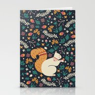 Stationery Cards featuring Merry Little Squirrel  by Poppy & Red