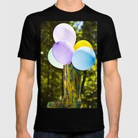 Boot And Balloons Mens Fitted Tee Black SMALL