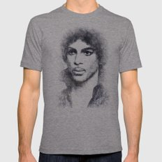 Prince portrait 01 Mens Fitted Tee Tri-Grey SMALL