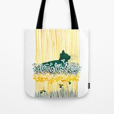 Clover Cat Tote Bag