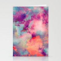 yellow Stationery Cards featuring Untitled 20110625p (Cloudscape) by tchmo