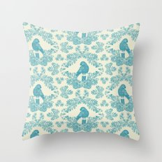 Mexican Parrot Throw Pillow