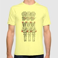 Butterfly Girl Mens Fitted Tee Lemon SMALL