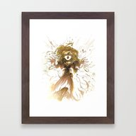 Fallen Princess Framed Art Print