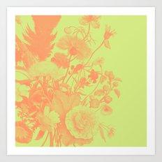 Wildflower Pattern Art Print