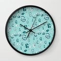 Letter Patterns, Part G Wall Clock