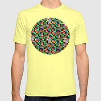Blocks Mens Fitted Tee Lemon SMALL