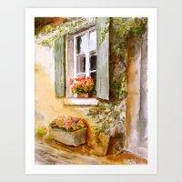 A Window In Hungary Art Print