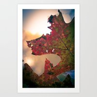Ragged Autum  Art Print