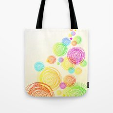 Circle Tower Tote Bag