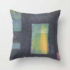 Light behind Black Throw Pillow