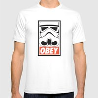 OBEY Storm Trooper  Mens Fitted Tee White SMALL