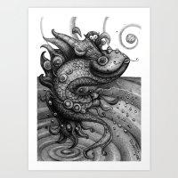 Miss Fish Art Print
