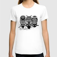 tattoo T-shirts featuring Owls of the Nile by Rachel Caldwell