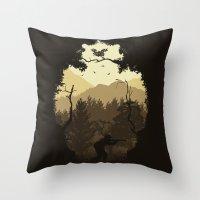 Hunting Season - Brown Throw Pillow